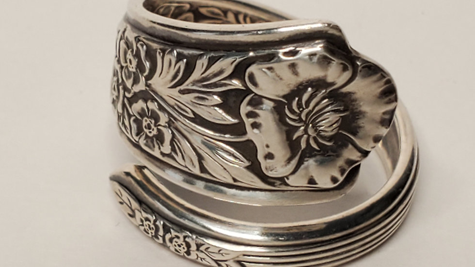 Royal Rose Spoon Ring, Sterling Silver, 1938