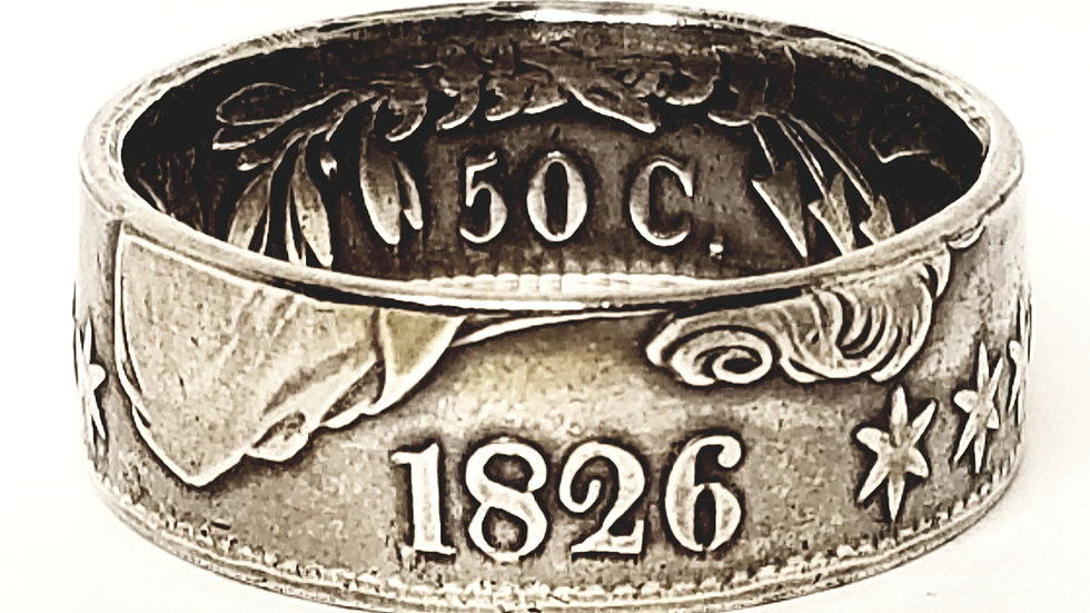 Capped Bust Half Dollar Coin Ring