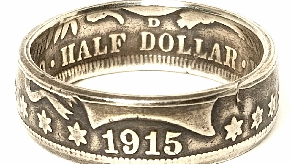 Barber 1/2 Dollar Ring Obverse