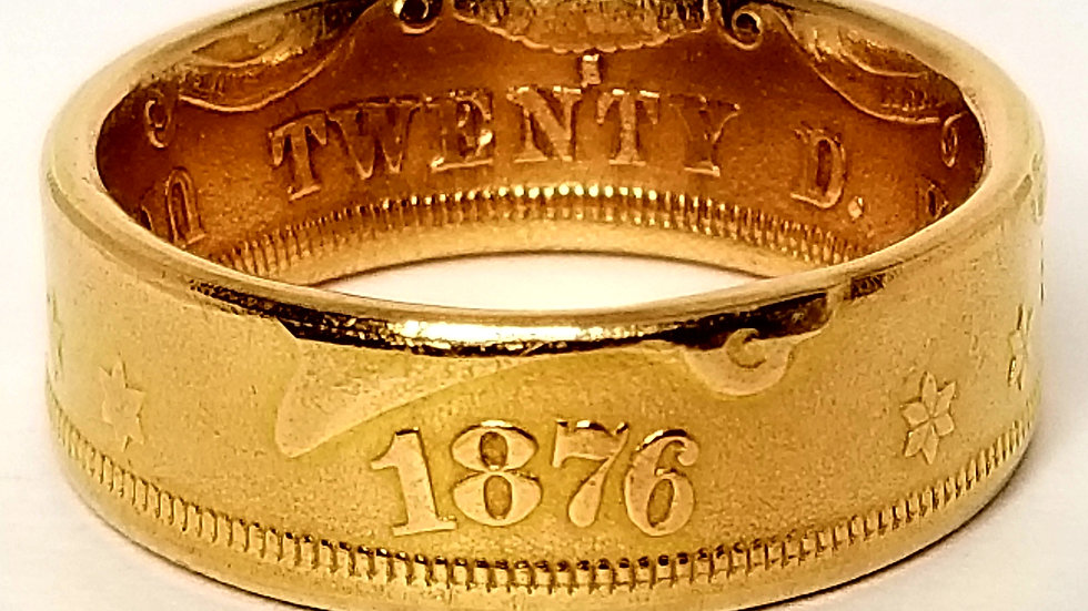 $20 Liberty Double Eagle Gold Coin Ring