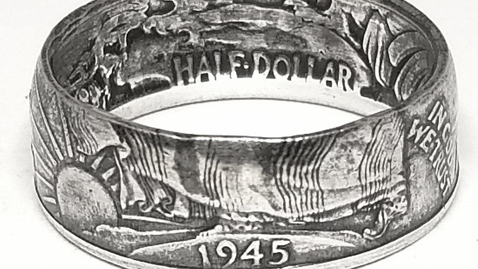 Walking Liberty Silver Half Dollar Ring