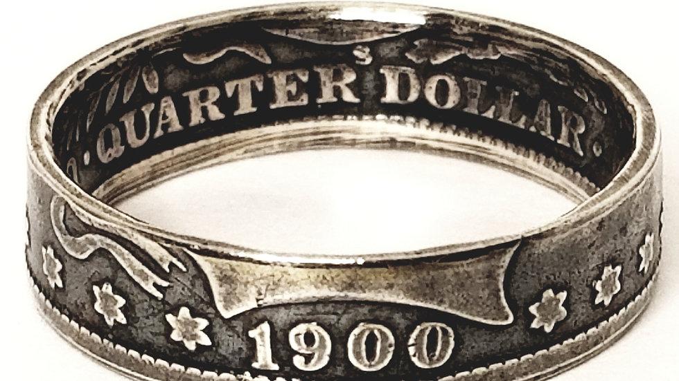 Barber Quarter Dollar Ring Obverse