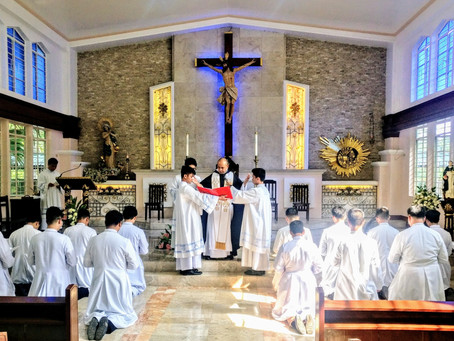 PHILIPPINES | Inauguration of fraternity of seminarians at the Immaculate Conception Major Seminary