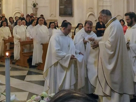 ITALY   Province of St. Thomas Aquinas receives two Priests in the Fraternity