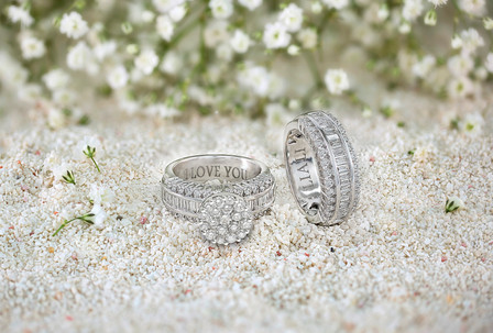 Engraved Love Bands - Jewellery Photoshoot