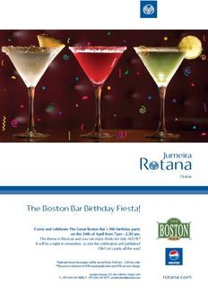 Jumeira Rotana Poster(Boston Bar)