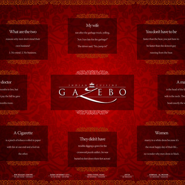 Gazebo-Table Mat