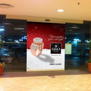 Mall Slider Door Ad