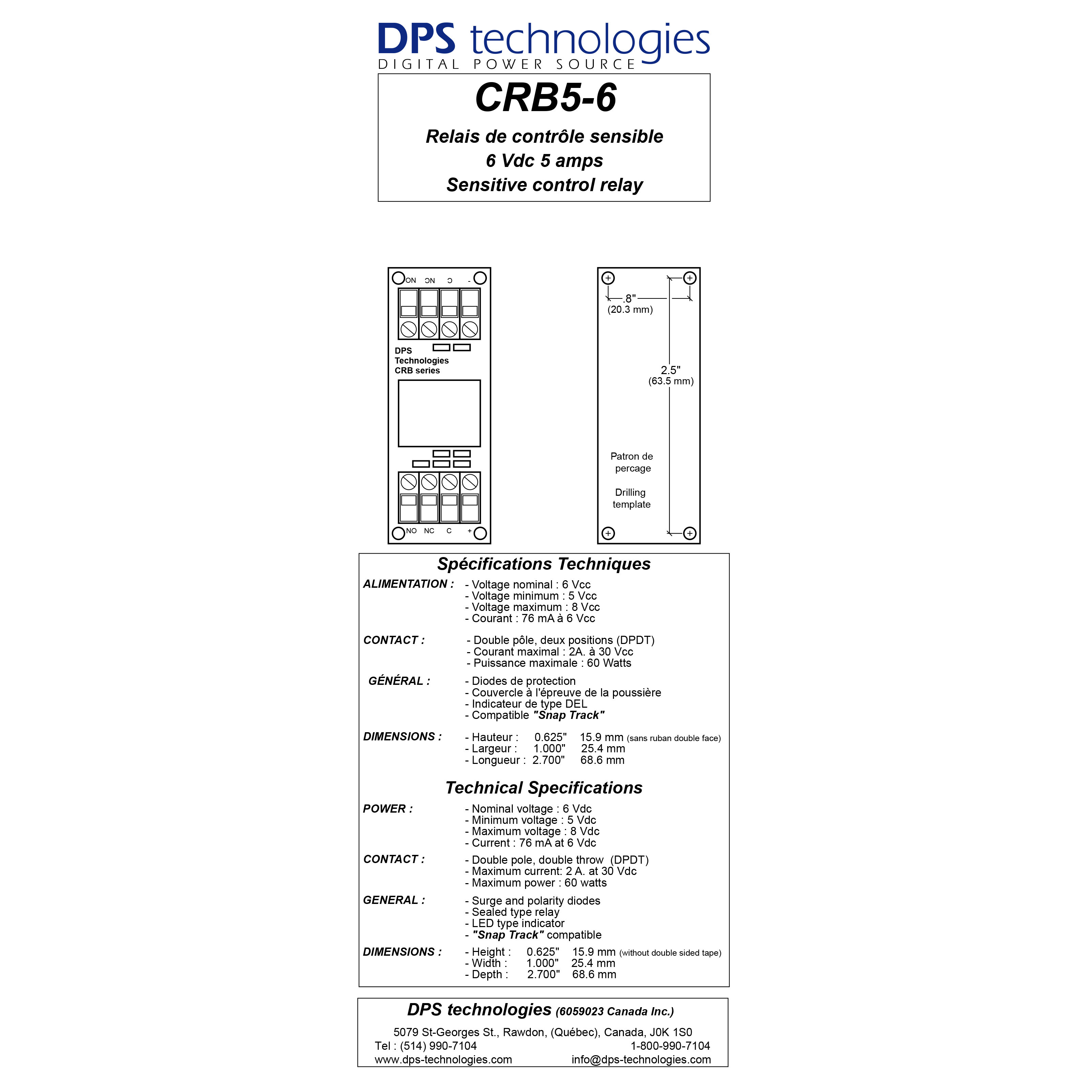 CRB5-6 High Power Relay Board (Special Order)