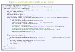 Exemple de code en Javascript