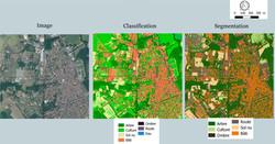 Etape de traitement d'une image satellite
