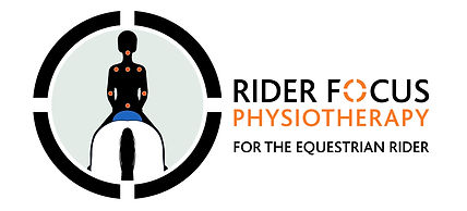 Rider Focus Phyisio logo, horse, rider, physiotherapy, balanced rider