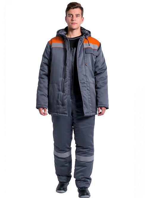 Костюм зимний Партнер NEW (т.серый/оранжевый)