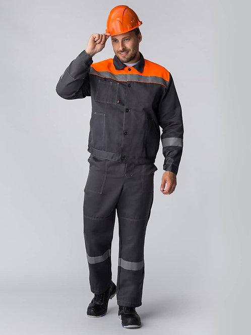 Костюм Легион-1 СОП (тк.Смесовая,210) брюки, т.серый/оранжевый