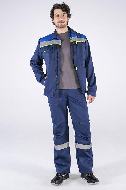 Костюм Фаворит-1 СОП (тк.Смесовая,210) брюки, т.синий/васильковый