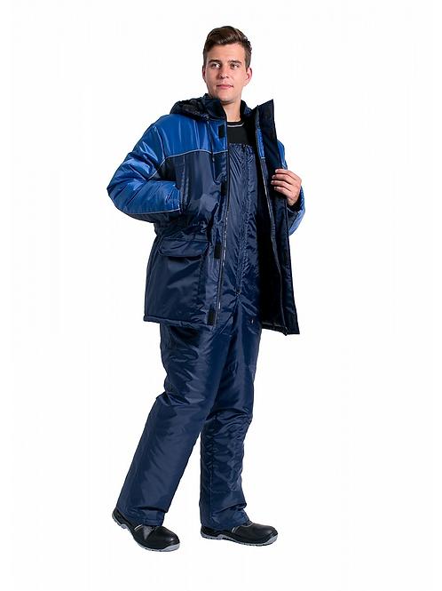 Костюм зимний Балтика (т.синий/васильковый)