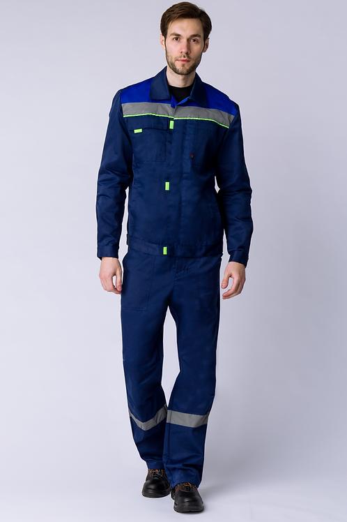 Костюм Фаворит-2 СОП (тк.Смесовая,210) п/к, т.синий/васильковый