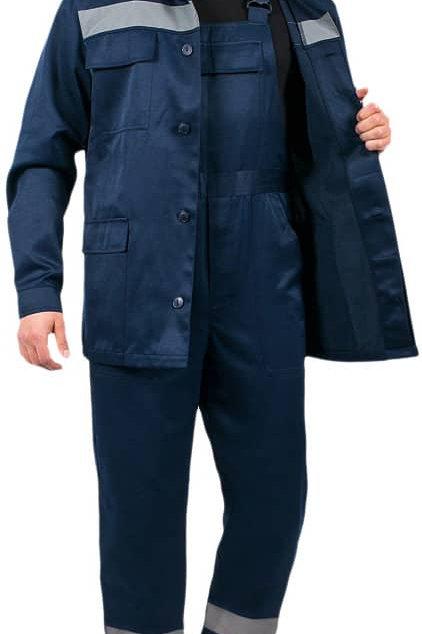 Костюм Экспертный-Люкс СОП (тк.Смесовая,210) брюки, т.синий