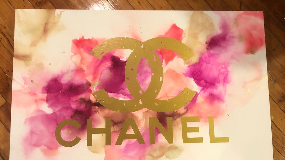 Chanel alcohol ink