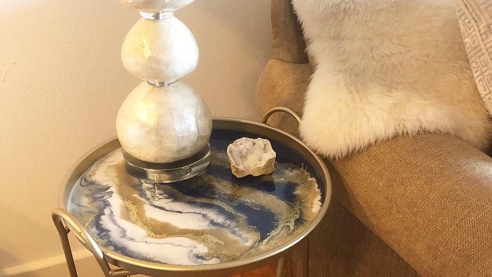Resin End Table