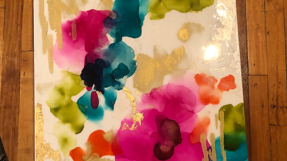 24x36 alcohol ink &resin