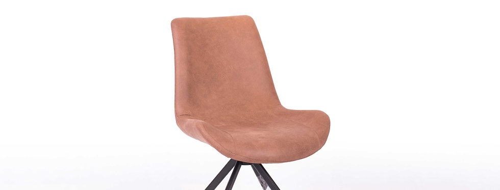 X_DC0013 Designer Dining Chair Brown