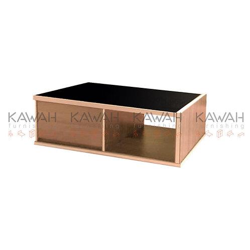 Keller Black Top Coffee Table