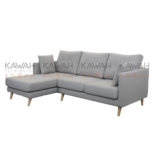 Allison Belgium Fabric Sofa L-Shape