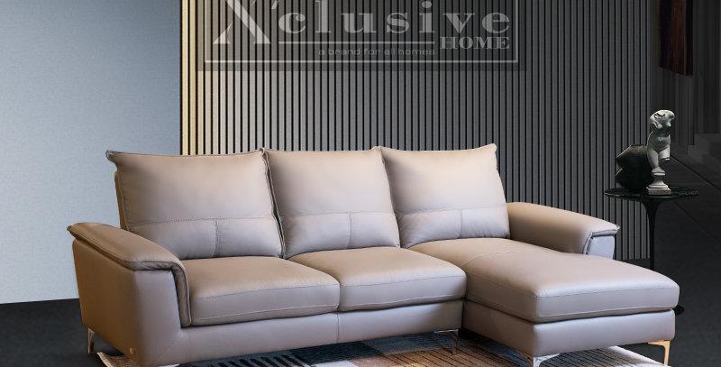 Molloy Italian Full Leather Sofa L-Shape