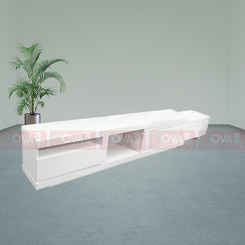 Snow  Drawer TV Console White