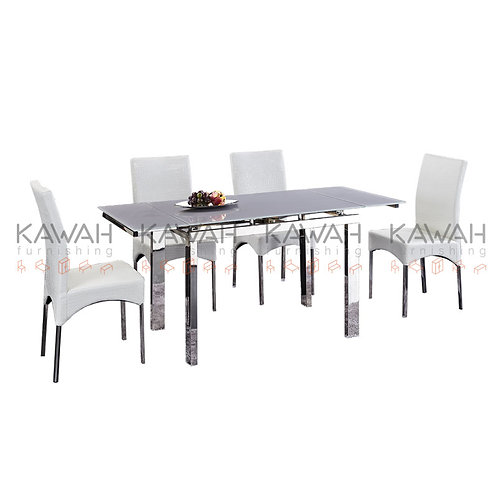 Sian Tempered Glass Top Dining Table
