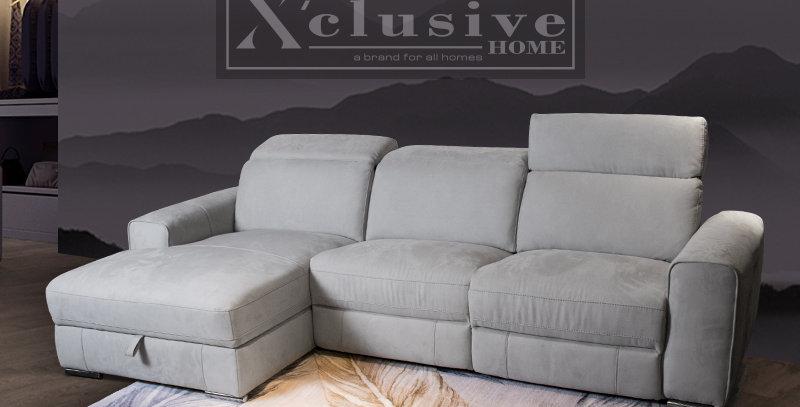 Reeva Belgium Storage Fabric Sofa Recliner