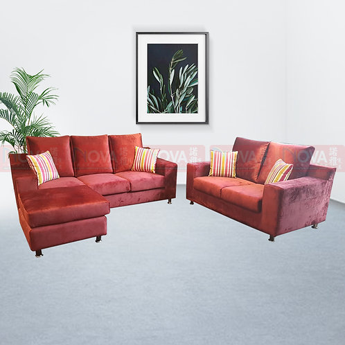 Santa Fabric Sofa 3+2 with Ottoman