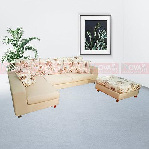 Nairn Fabric Sofa L-Shape with Ottoman
