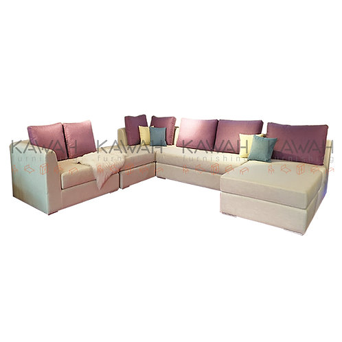 Ratliff Belgium Fabric Sofa with High Resilience Foam
