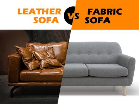 Leather Sofa VS Fabric Sofa