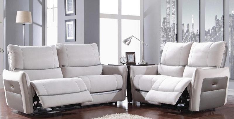 Arnoka Full Leather Sofa Incliner Set