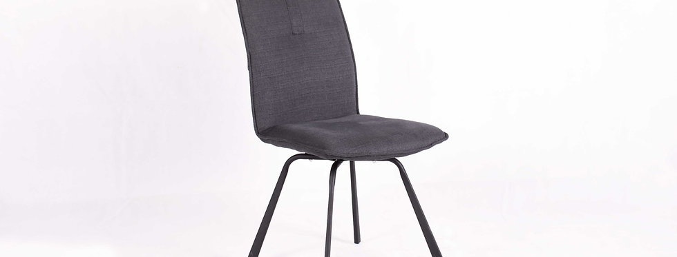 X_DC0019 Fabric Seat Dining Chair Dark Grey