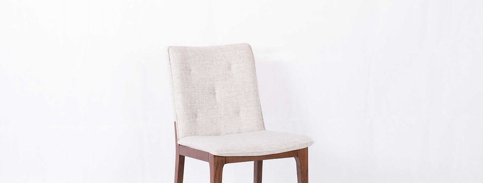 X_DC003 Fabric Seat Wooden Dining Chair White