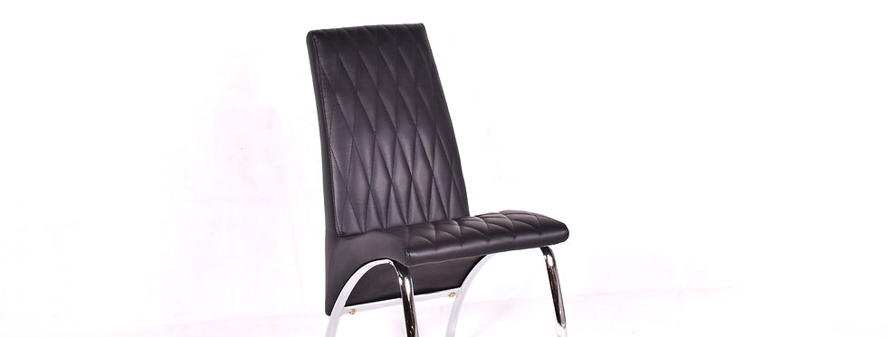 X_DC005 Designer Dining Chair Black