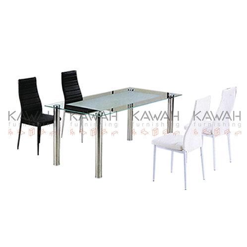 Salinas Glass Top Dining Table
