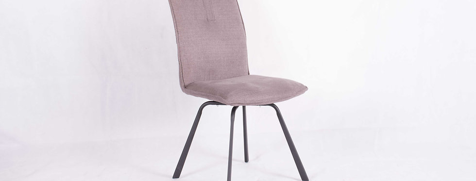 X_DC0020 Fabric Seat Dining Chair Light Grey