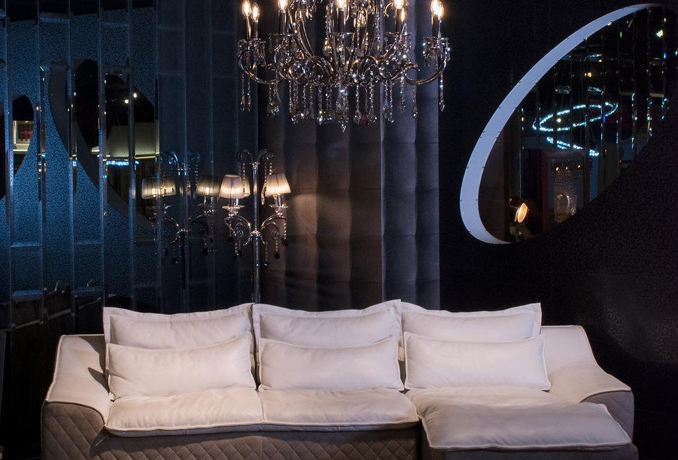 Royal Italian Full Leather Sofa L-Shape