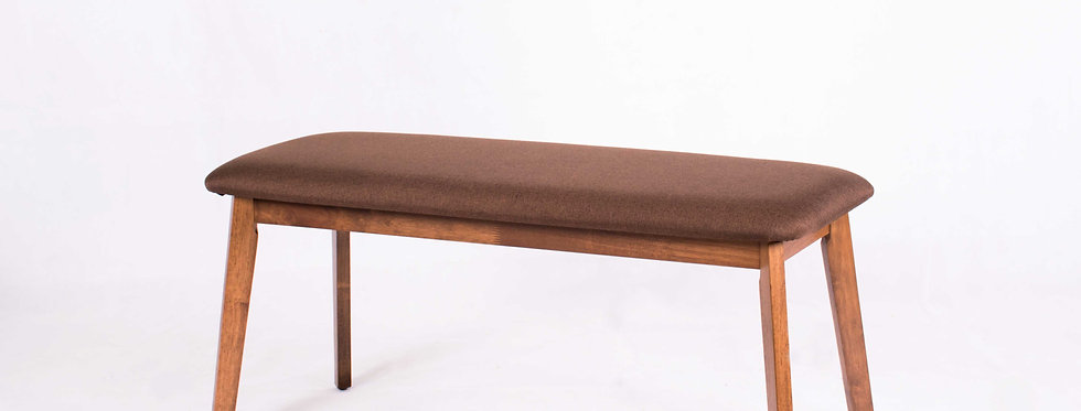 X_DC0031Fabric Seat Wooden Long Bench Dining Chair