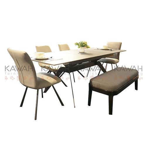 Deon Marble Top Dining Table Set