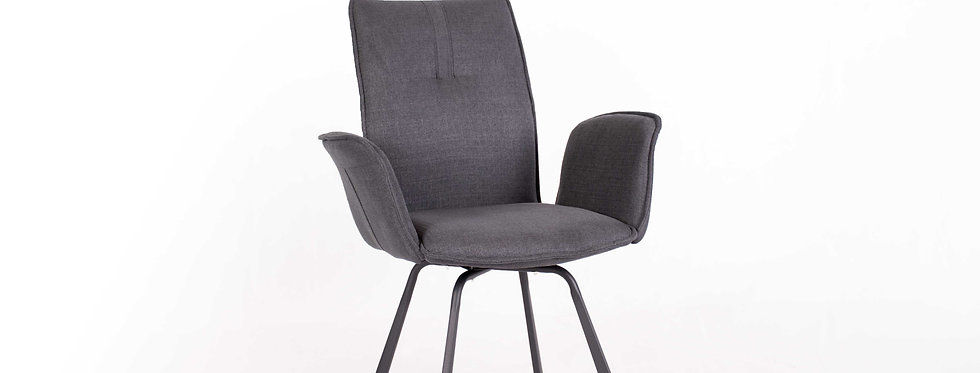 X_DC0021 Fabric Dining Chair Dark Grey