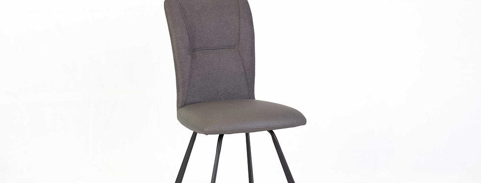 X_DC0023 Fabric Seat Dining Chair Dark Grey