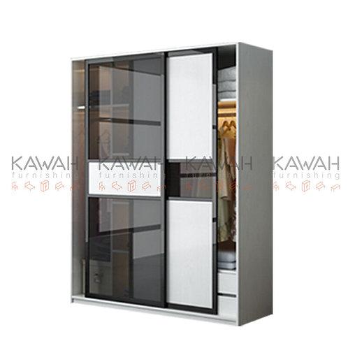 Leja Glass Door Modular Wardrobe