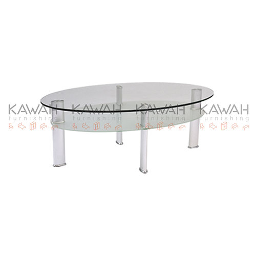 Flamenco Glass Top Coffee Table