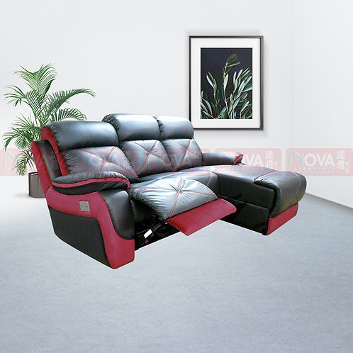 Alfaro Leather Sofa L-Shape Recliner